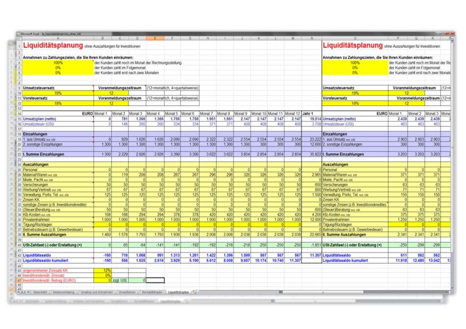 businessplan als text und wordvorlage einfach anpassbar liquidittsplanung zur freien bearbeitung - Liquiditatsplanung Beispiel