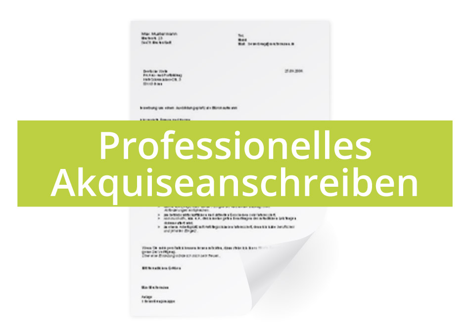 Professionelles Akquiseanschreiben Businessplan Download Muster